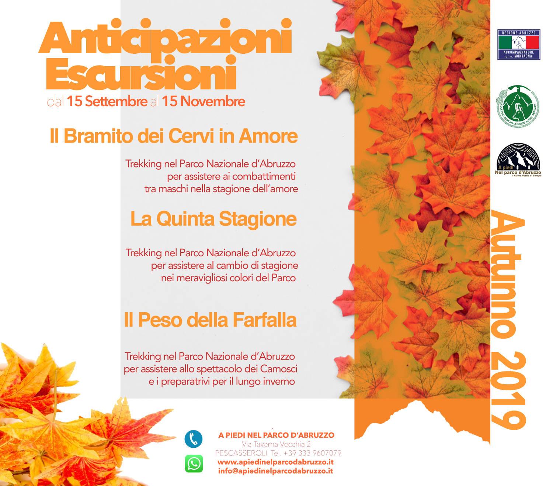 Calendario Regionale Abruzzo.Calendario Escursioni Abruzzo Autunno 2019 A Piedi Nel