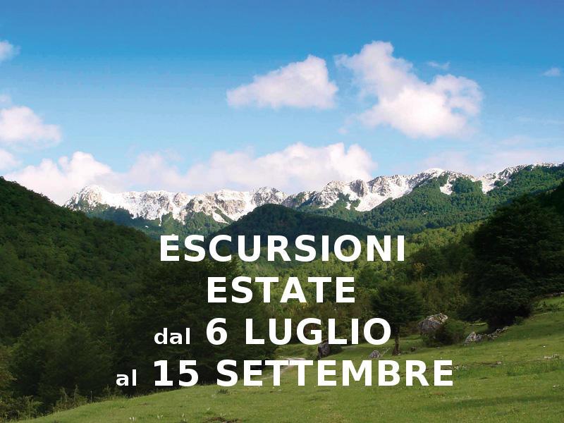 Escursioni in Abruzzo Pescasseroli Estate 2020
